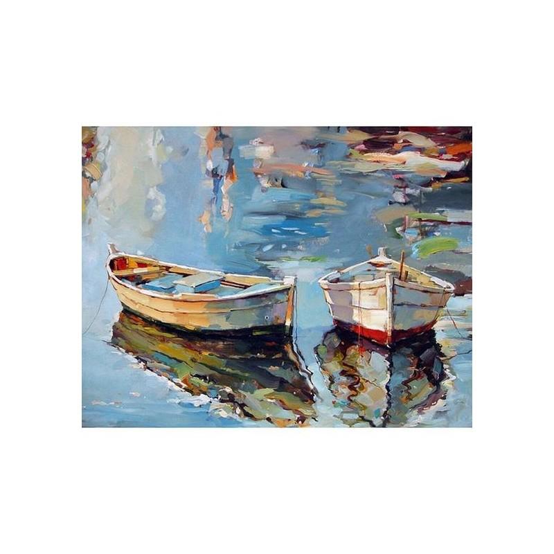 les barques reflétent